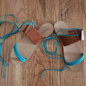 Breckelles Shoes - Breckelles lace up sandals 9 EUC